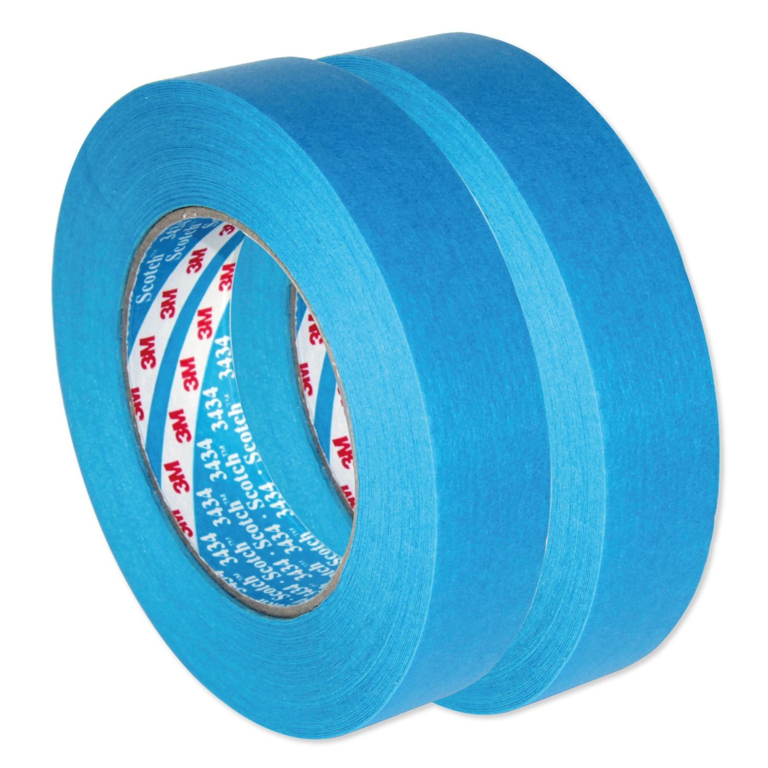 3M Scotch AutoBright Blaues Band Wasserdicht, Automotive Kreppband 3434 110°C 25 mm x 50m x 2 von 3M