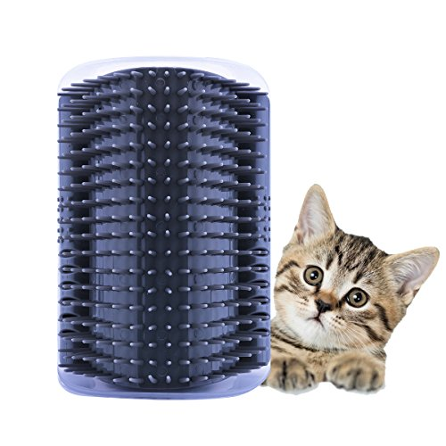 ADESUGATA Katze Bürste,Pet Selbst Groomer Haarentfernung Massage-Bürste Katzenminze Fellpflege Kützchen Wand Ecke Kamm Arch Kitten Massaging Pet Self Grooming Bristle Groomer Toy (Grau) von ADESUGATA