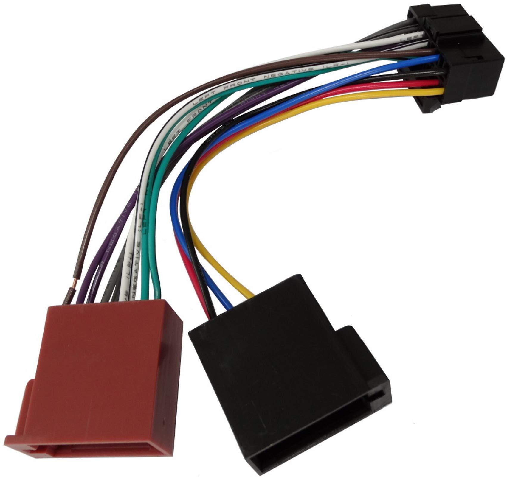 Aerzetix ISO-Konverter 8 vorverdrahtet Anschl/üsse f/ür Lautsprecher m/ännlich weiblich Adapter Kabel Radioadapter 20cm ISO 16 PIN-8