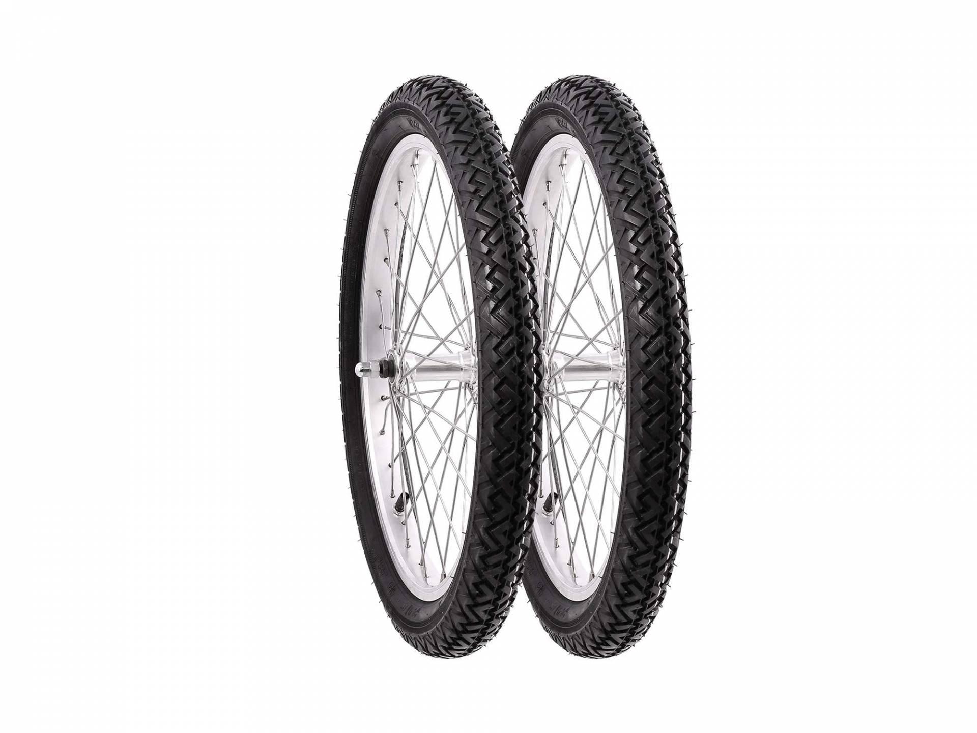 Edelstahlspeichen AKF Komplettrad unmontiert 1,5x16 Alufelge Reifen Vee Rubber 094