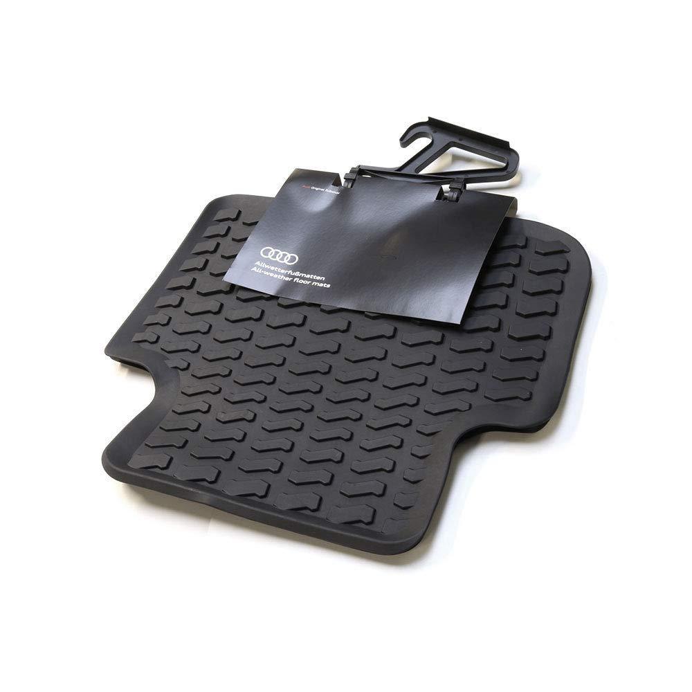 mit e-tron Schriftzug Unbekannt Komplettsatz Premium Gummi Fu/ßmatten 4X Gummimatten Allwettermatten schwarz