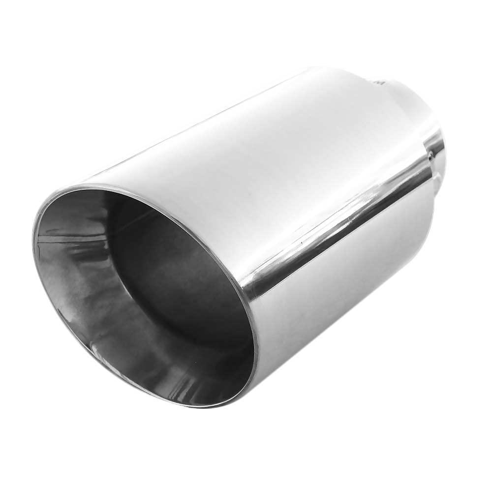 Autohobby 1328 Auspuffblende Auspuff Universell Schalldampf Endrohr Edelstahl bis 58mm /Ø Chrom
