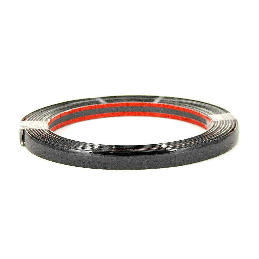Autohobby 12mm x 3meter Zierleiste Chromleiste Universal Flexibel Selbstklebend Kunststoff Tuning Styling Chrom