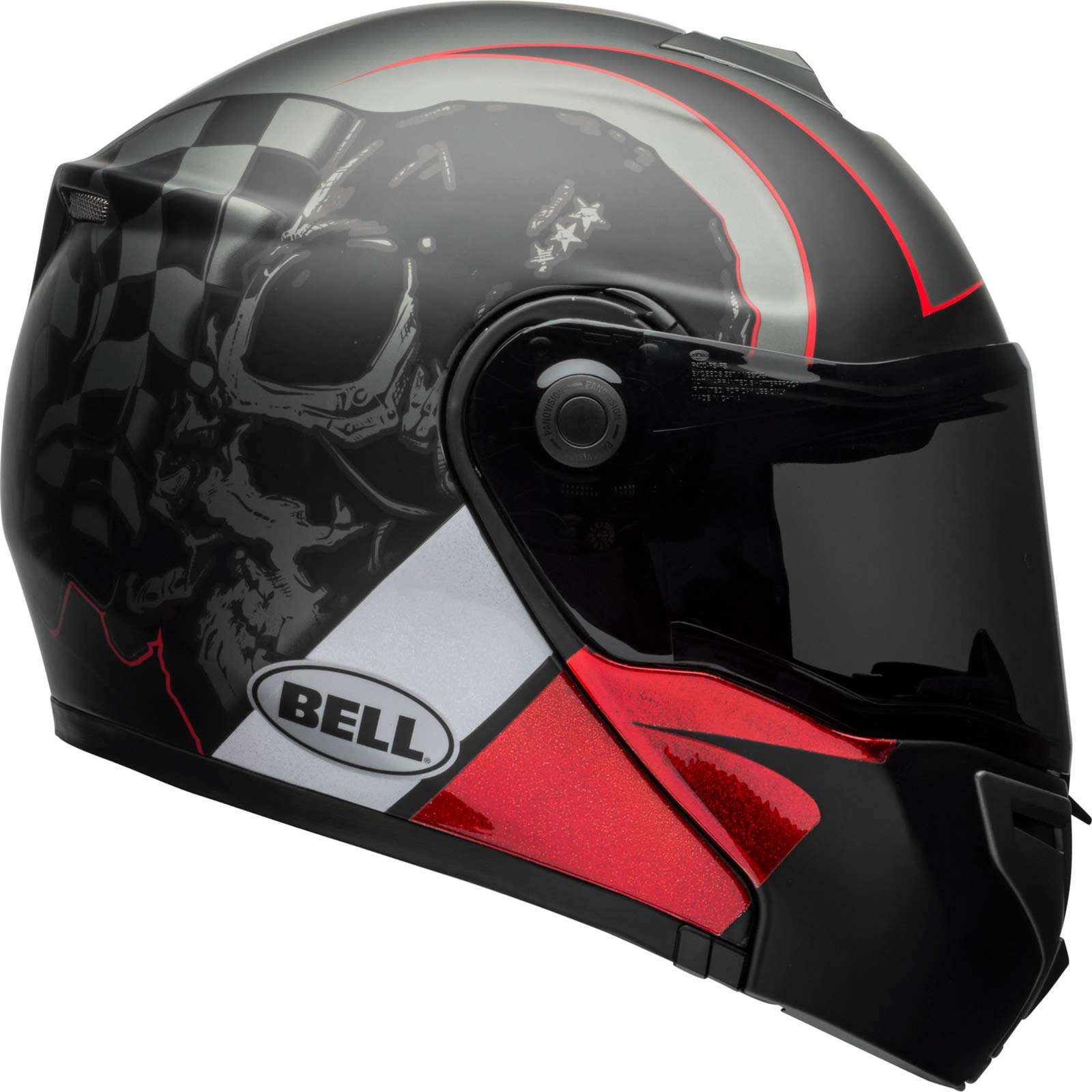 Bell HELMET SRT MODULAR HART LUCK CHARCOAL/WHITE/RED S von Bell