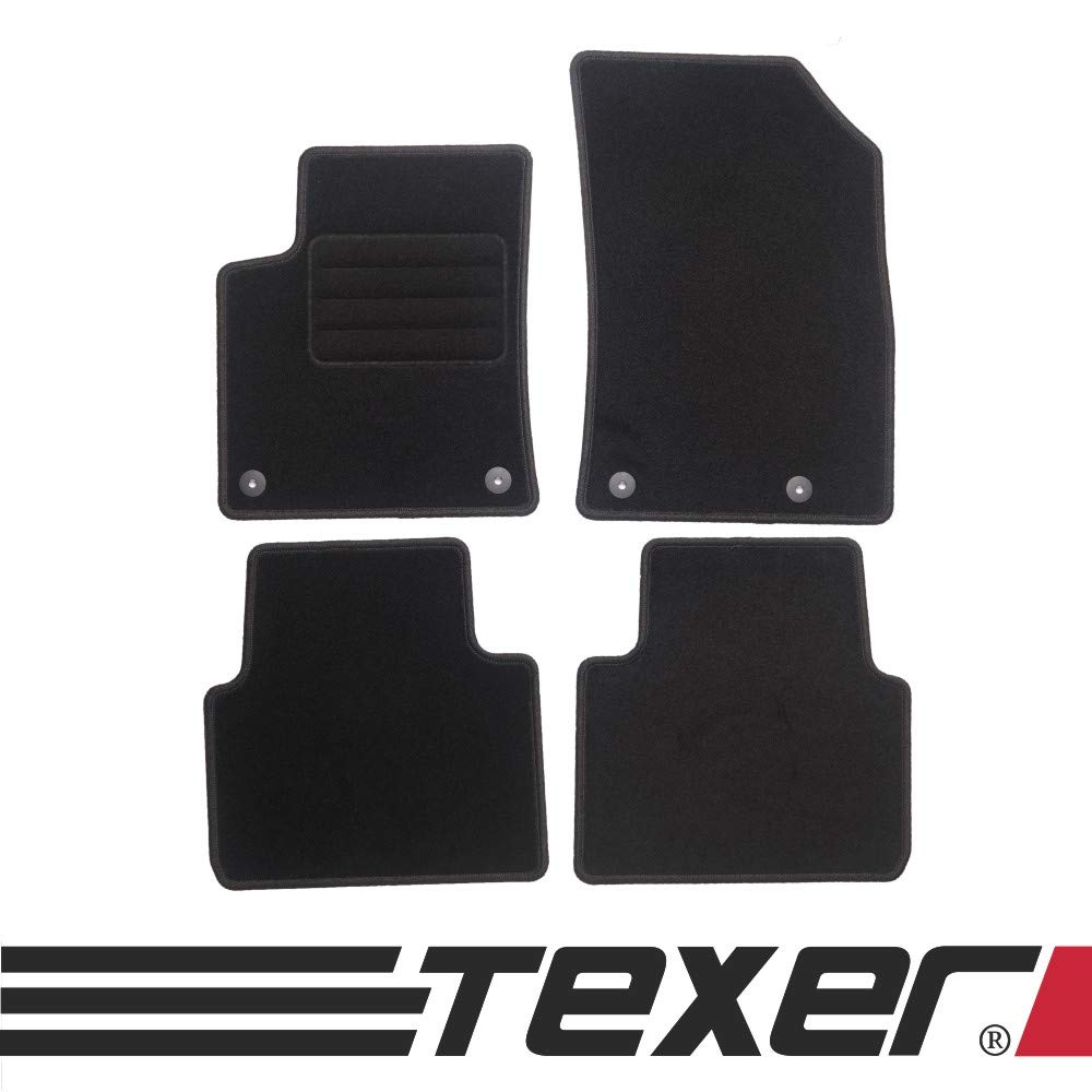 CARMAT TEXER Textil Fu/ßmatten Passend f/ür Mercedes-Benz E-Klasse W124 Bj 1984-1997 Basic