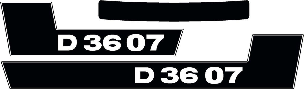 Deutz pegatinas logotipo emblema sticker Label serie d 23x12,8 cm