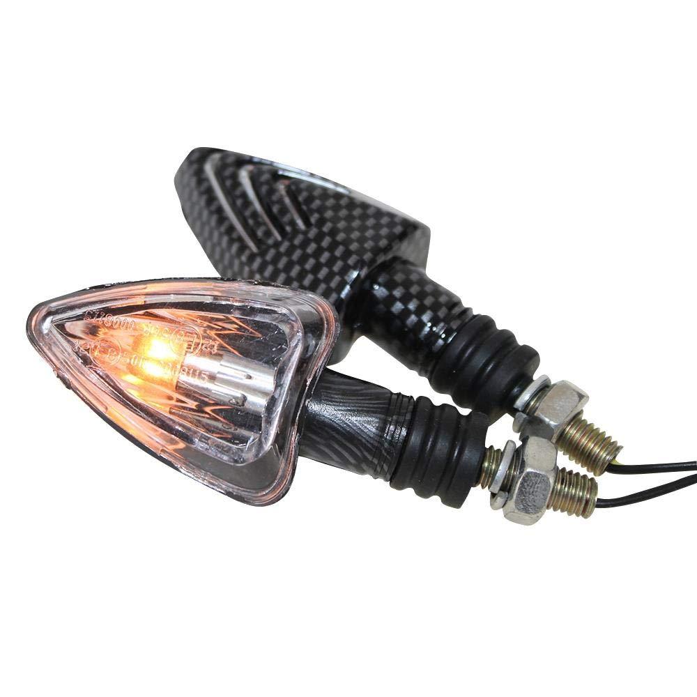 LED Mini Blinker Set Spear schwarz klar E-geprüft M8 für Roller Moped Mofa NEU