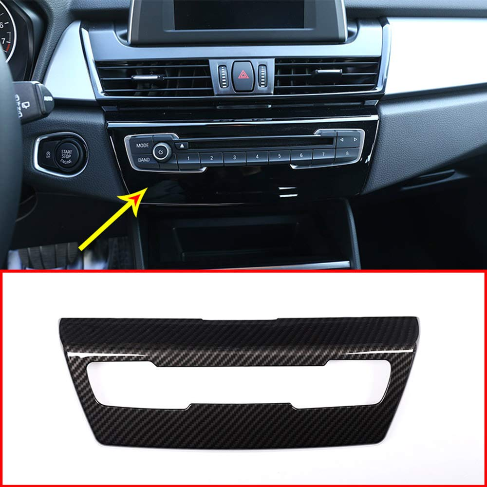 YIWANG ABS Car Side Air Conditioning Vent Outlet Cover Trim 2pcs For Giulia 2016-2018 Auto Accessories Carbon Fiber