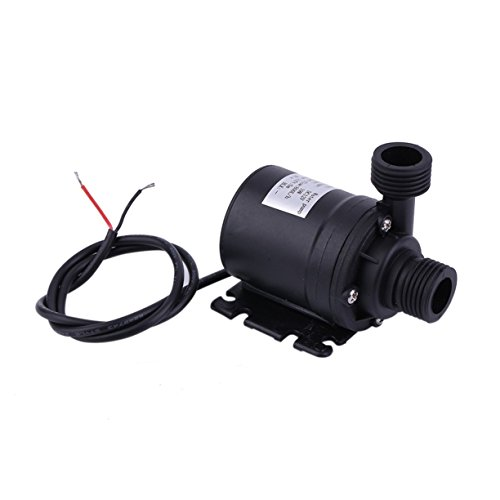 Detectoy Ultra-leiser Mini-DC 12V Lift Brushless Motor Tauchwasserpumpe, Multifunktions-Gewinde Wasserpumpe, 5M 800L / H Mini Ultra-Ruhig Brunnenwasserpumpe für Pet Fountains, Aquarium, Teich, Aquarium, Statuarische Wasserpumpe Hydroponics von Detectoy