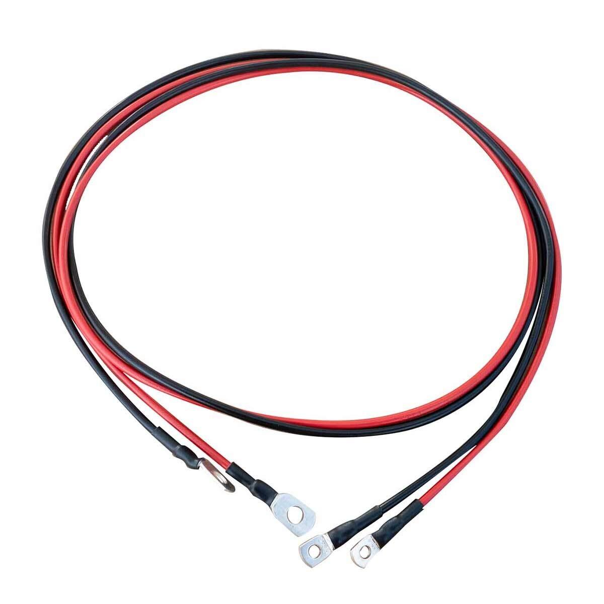 ECTIVE Kabel-Satz 2m f/ür Wechselrichter bis 1000W 24V Wechselrichter-Kabel rot//schwarz 16 mm/² M8//M8 in 4 Varianten 1-3 Meter