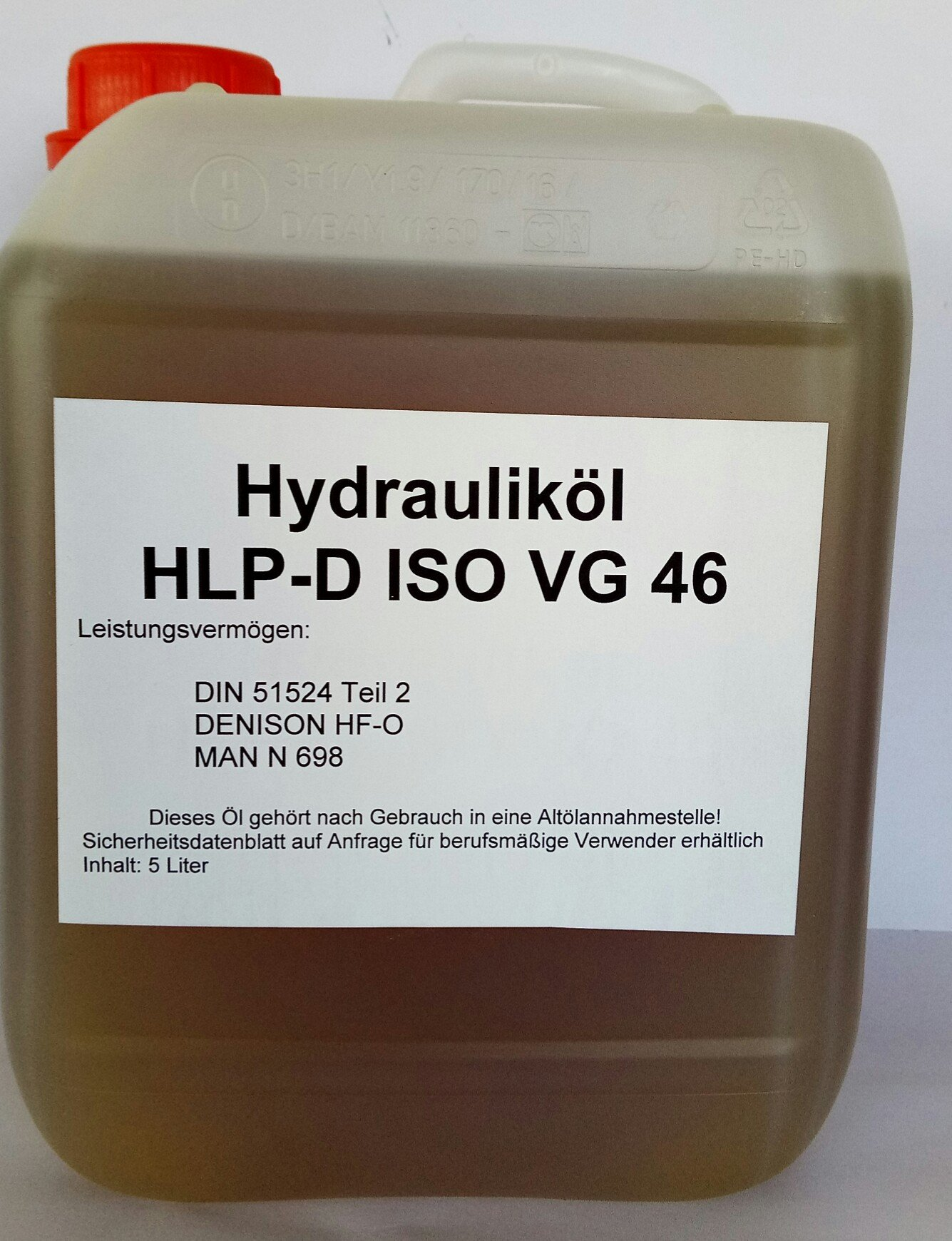 East Germany OIL Hydrauliköl HLP D 46 (Kanister 5 Liter) von East Germany OIL