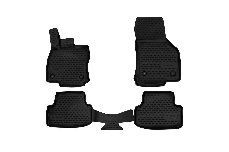 Volkswagen Caddy Jahr: 15-20 Element EXP.CARVLK00003 Passgenaue Premium Antirutsch Gummi Fu/ßmatten schwarz
