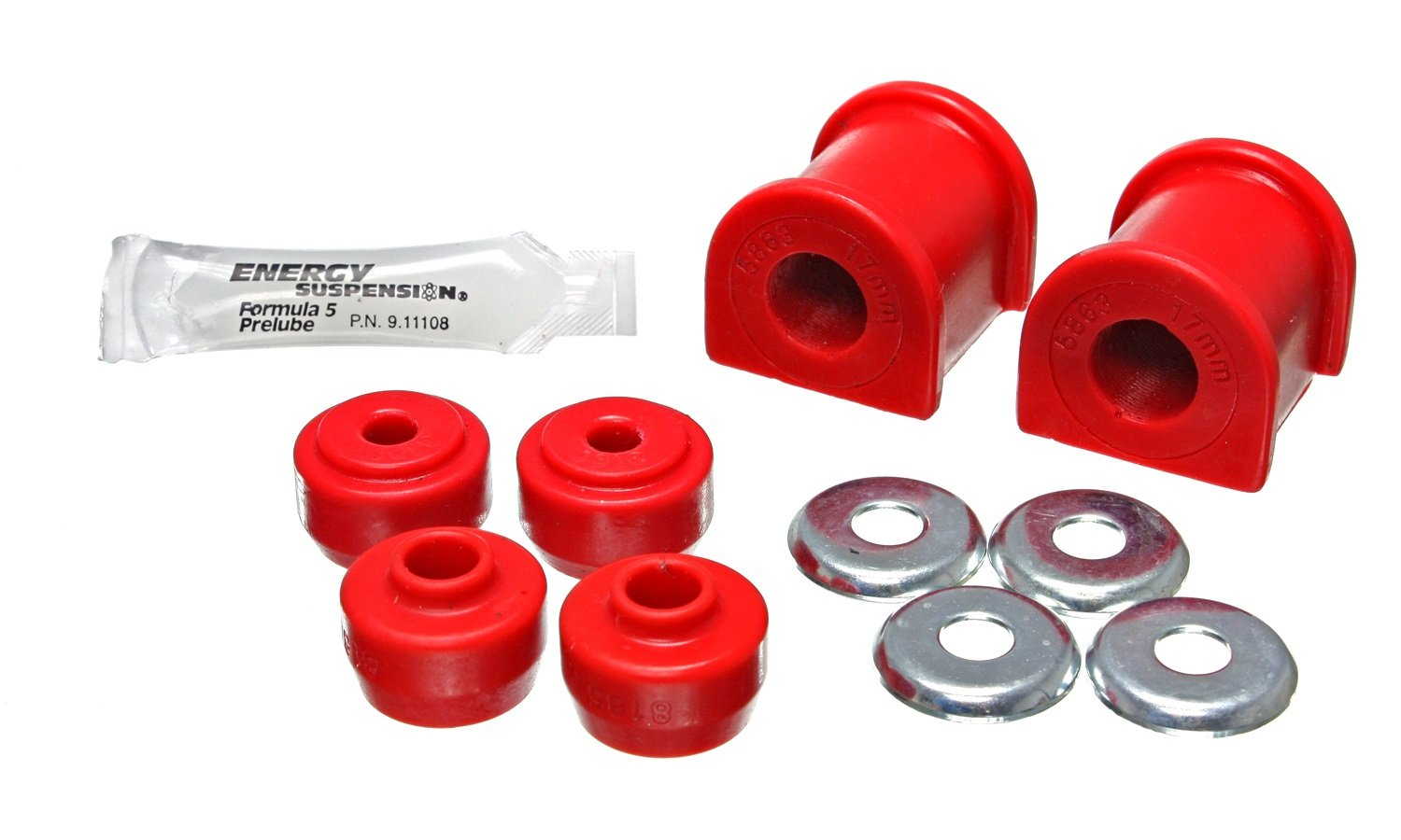 Energy Suspension 8.5136R Rr Sway Bar Buchsen-Set, 17 mm von Energy Suspension