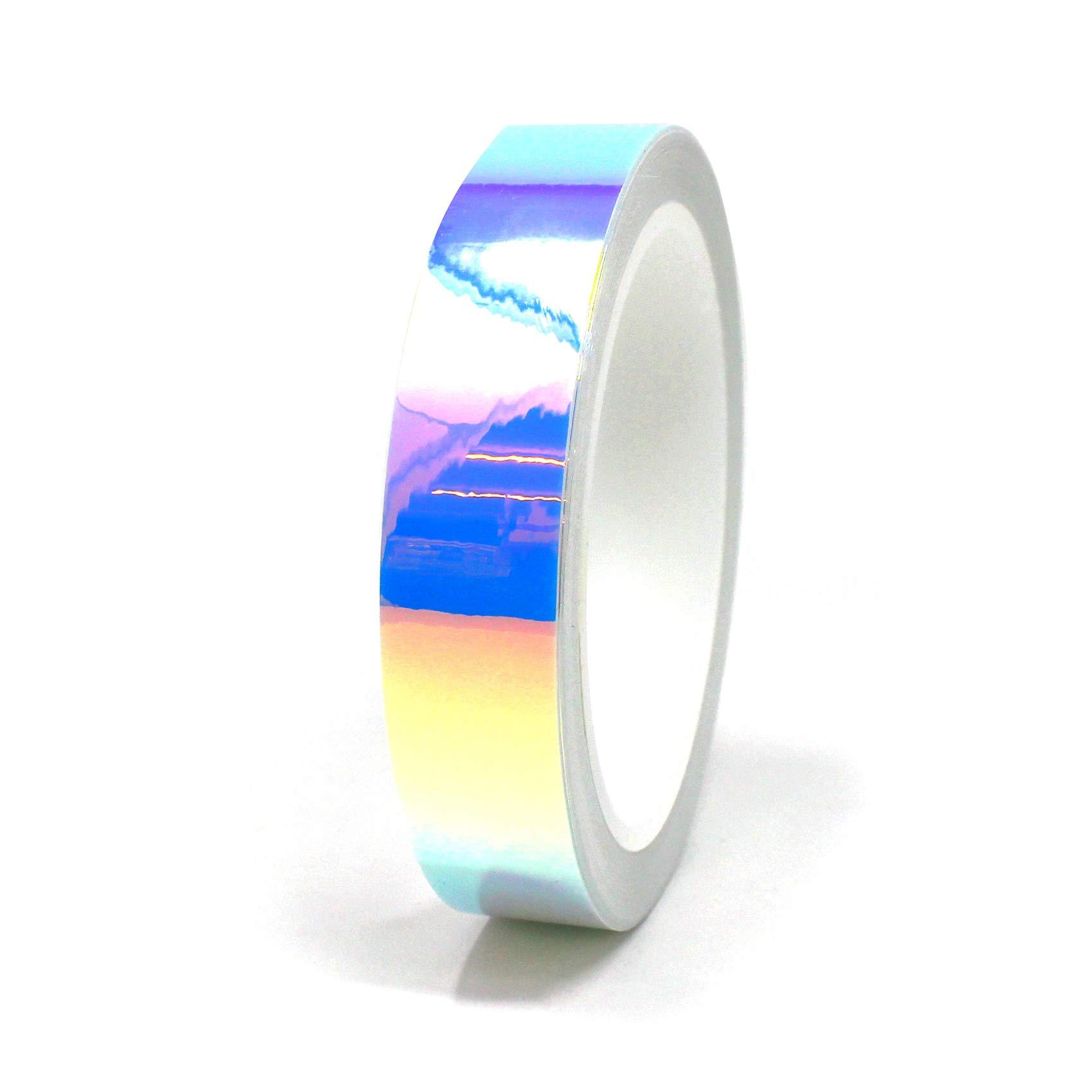 300 x 152cm Finest Folia 19,73/€//m/² Laser Hologram Chrom Schwarz Auto Folie mit Luftkan/äle Holographic