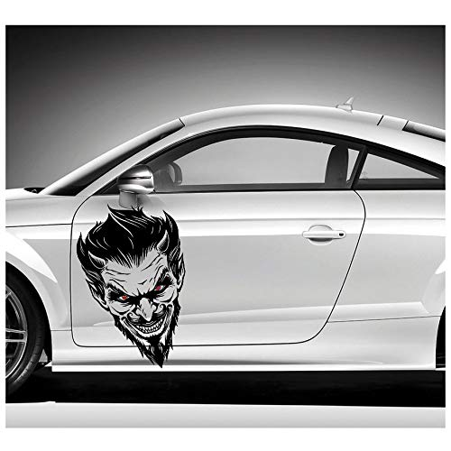 Finest Folia Devil Dekor Aufkleber Sticker Devil Eye Autoaufkleber Folie Joker Batman (D019) (80cm x 50cm) von Finest Folia