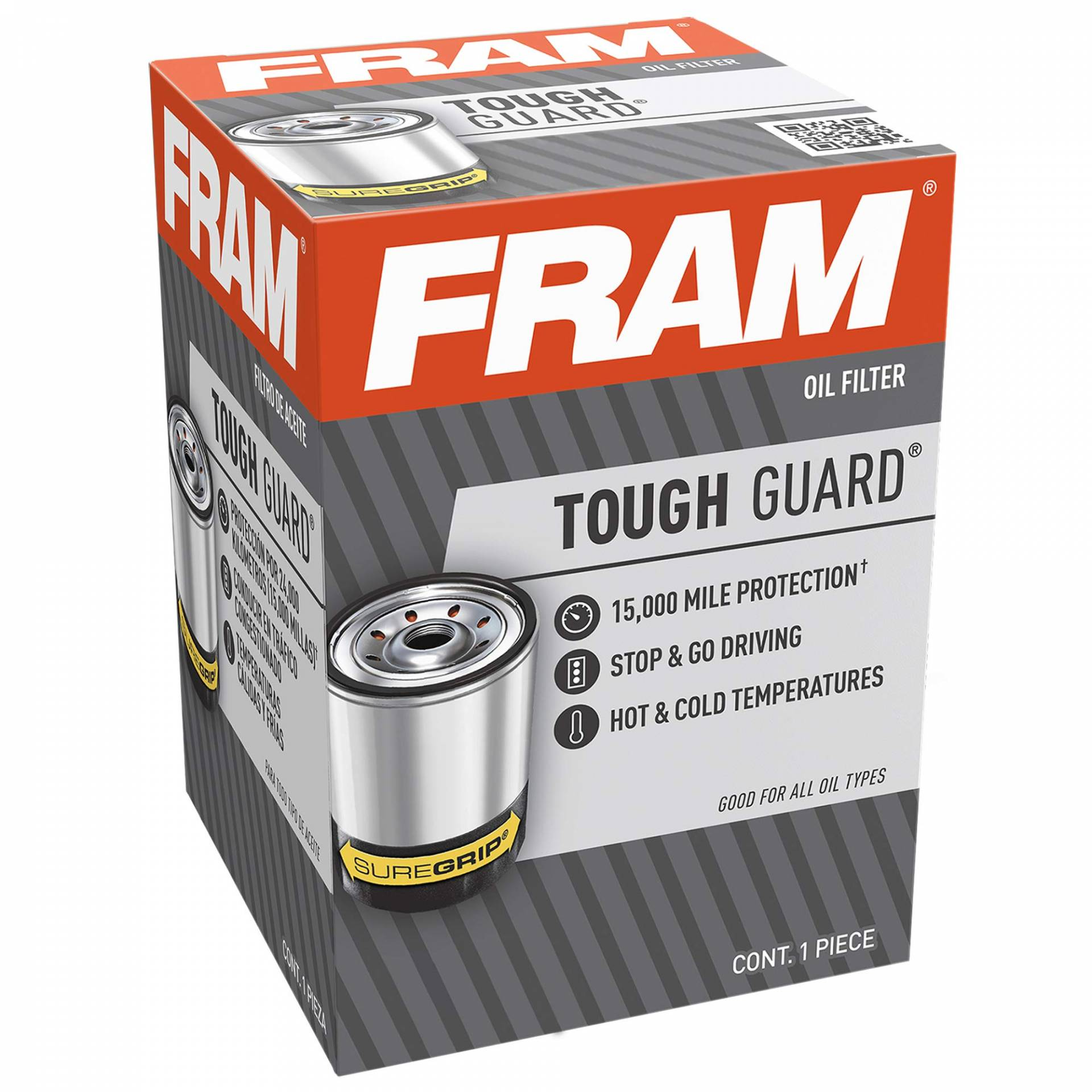 FRAM Tough Guard TG9688, 15.000 Meilen-Wechselintervall Spinn-On-Ölfilter von Fram