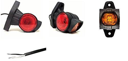 Side Marker Orange 4/LED Kabel spelato 12//24/V 130/x 32/x 15/mm Radstand 116/mm.