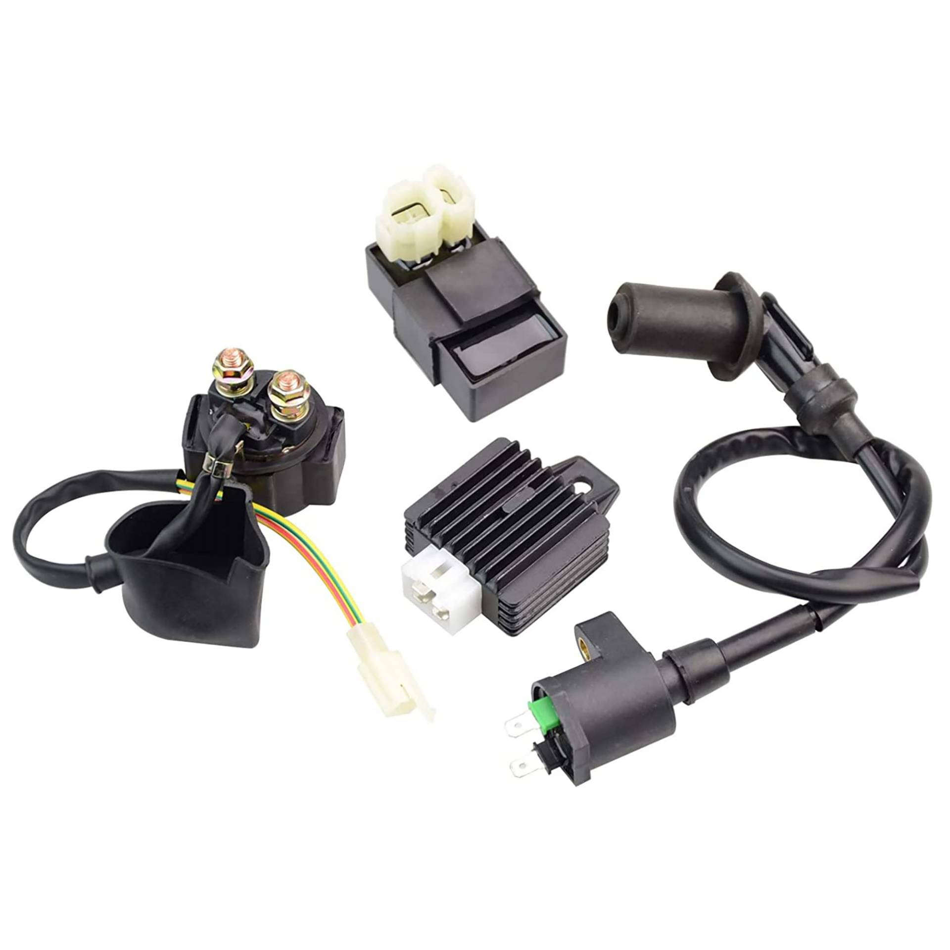 WOVELOT Racing Ignition Coil++CDI Box For GY6 50cc-150cc 4-Stroke Engines ATV