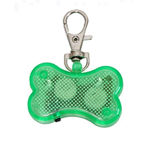 LED-Licht Up Dog Bone Form ID Tag Pet Sicherheit Halsband Anhänger für Outdoor Night Walking von Greenlans