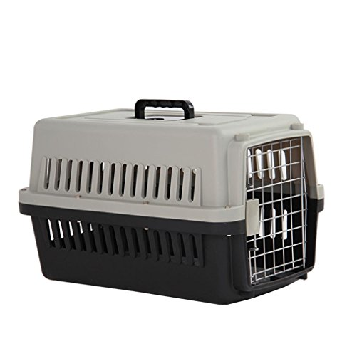 Pet air box katze und hund katze käfig große tragbare transport air box out of the box air box , black gray , s:58 x 36 x 36cm von HongXJ