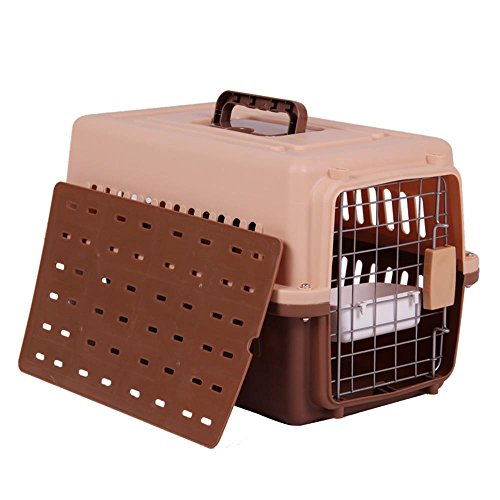 Pet air box katze und hund katze käfig große tragbare transport air box out of the box air box , coffee color , s:58 x 36 x 36cm von HongXJ