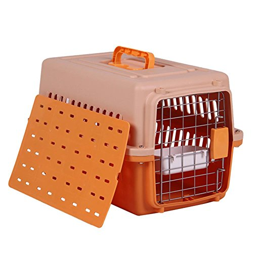 Pet air box katze und hund katze käfig große tragbare transport air box out of the box air box , orange , s:58 x 36 x 36cm von HongXJ