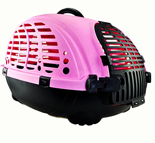 Pet air box transportkäfig verschiffen box hund lufttransport käfig tragbare heraus pet box , m- medium , pink von HongXJ