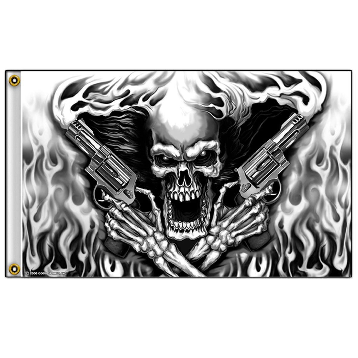 Hot Leathers (fga1024; 3 'x5' Multicolor Assassin Totenkopf Flagge von Hot Leathers