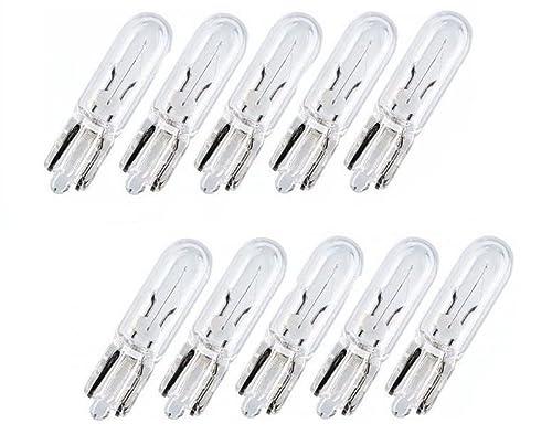 Gl/ühlampe W2,1x9,5d STVZO zugelassen T10 10 St/ück Glassockellampe 3Watt Lampen Soffitte W 3W 24 Volt Gl/ühbirne mit E-Pr/üfzeichen - Hallenwerk Nfz LKW Beleuchtung