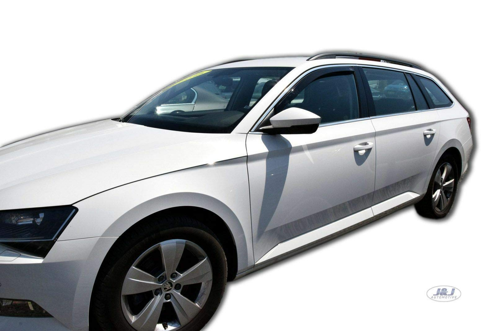 J&J AUTOMOTIVE Windabweiser Regenabweiser für Skoda SUPERB III Kombi ab 2015 2tlg HEKO dunkel von J&J AUTOMOTIVE