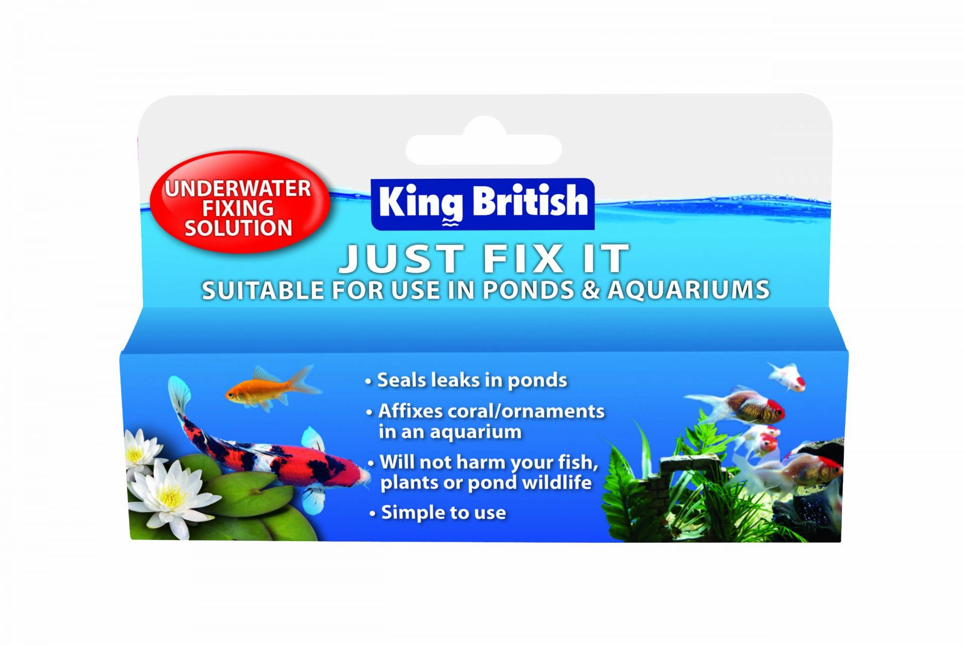 King British Just Fix It Teich- und Aquarium-Reparaturset von King British
