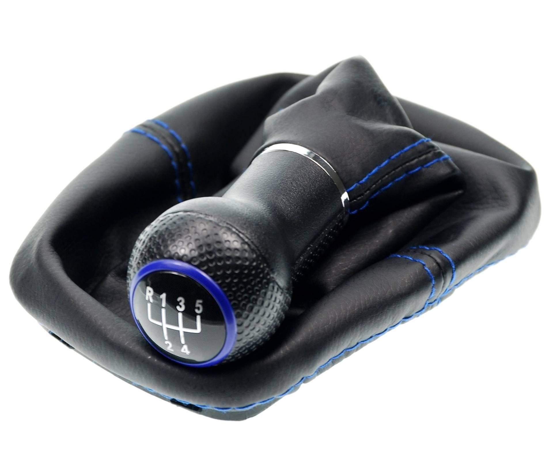 L /& P Car Design L/&P A0191 Schaltsack Schaltmanschette Handbremsmanschette kompatibel mit BMW 3er e30 100/% Echtleder Leder Schwarz Naht Blau