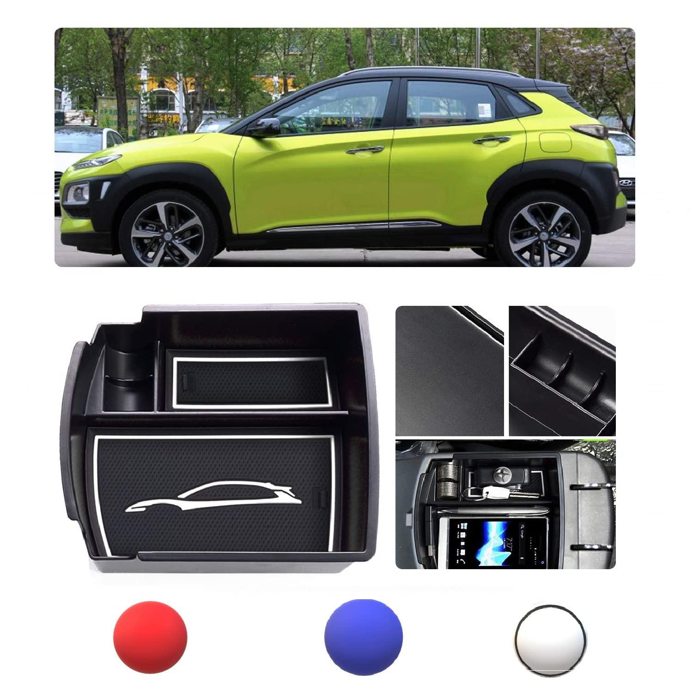 Yueng Auto Center Konsole Armlehne Aufbewahrungsbox Handschuhfach Organizer ABS Kunststoff Schwarz