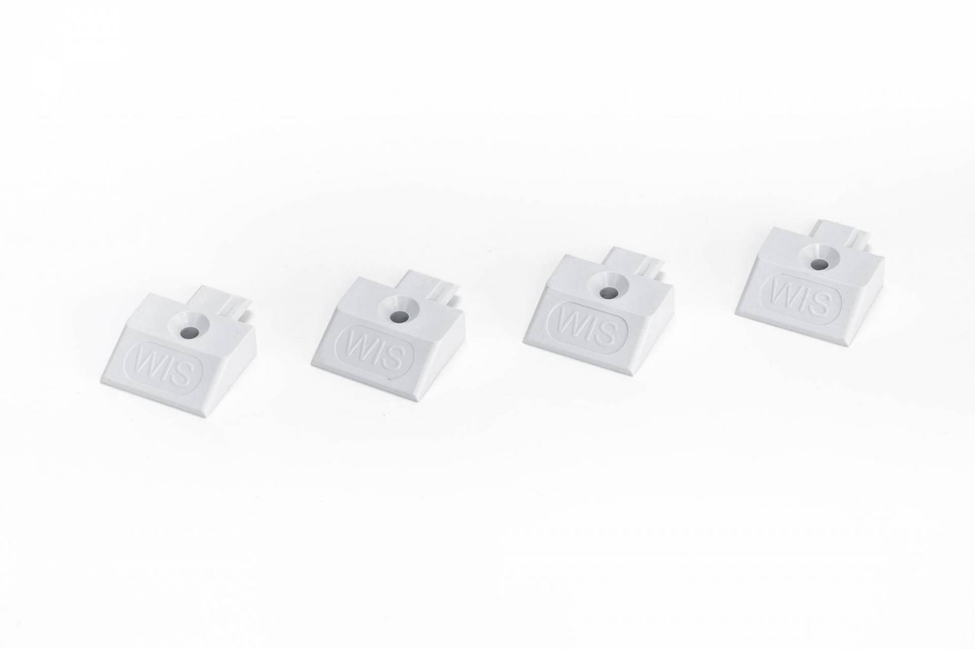 eckig flache Form,grau 4x Endkappe Einsteckkappe für Airlineschiene Zurrschiene