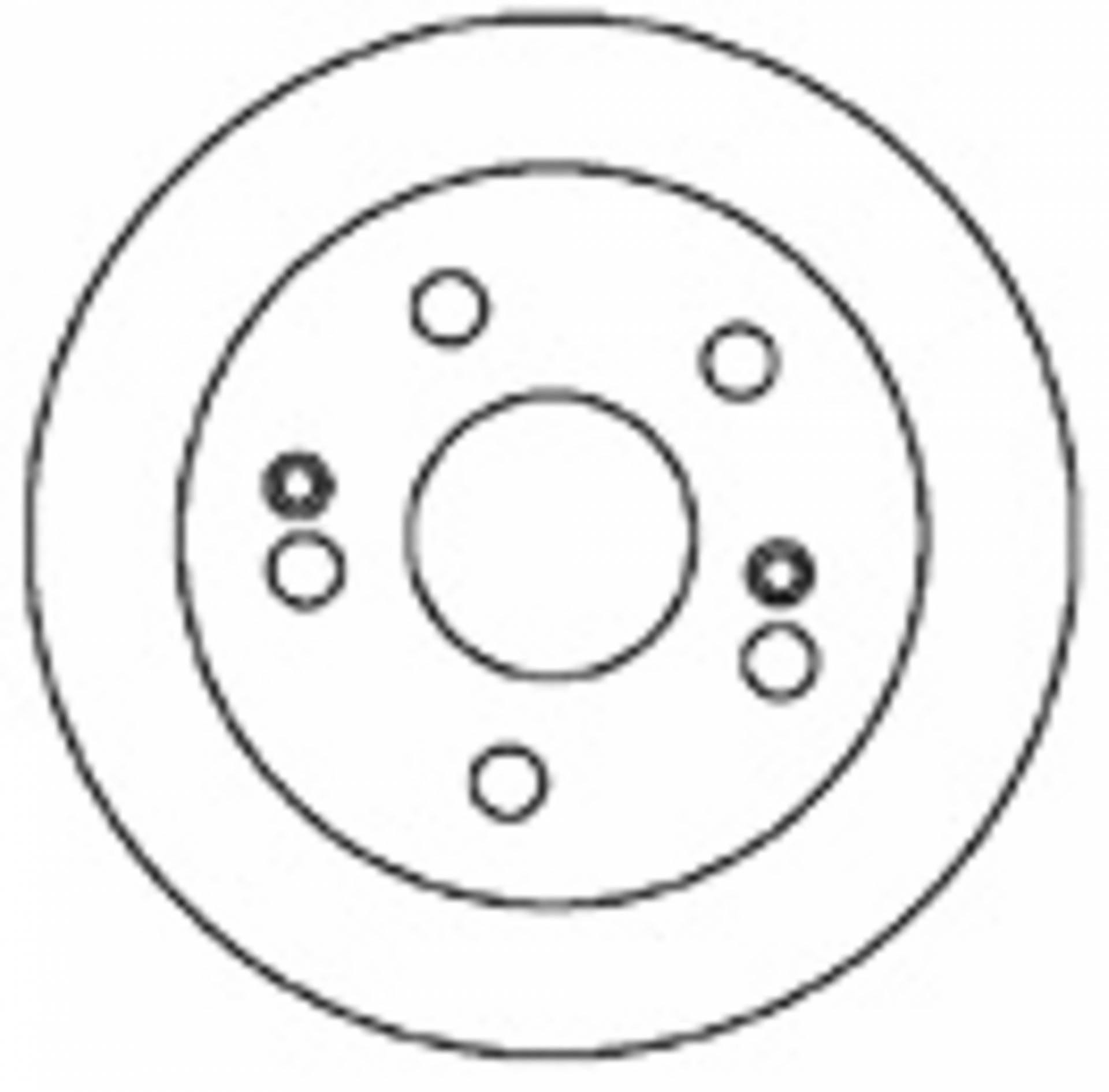 Mapco 25781 Single Bremsscheibe