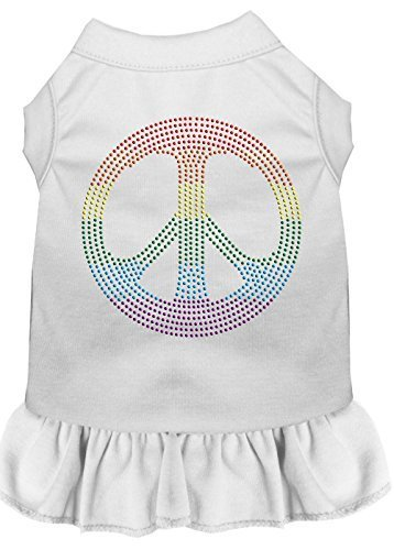 Mirage Pet Products 57–18 SMWT weiß Strass Rainbow Peace Kleid, klein von Mirage Pet Products
