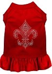 Mirage Pet Products 57–23 XSRD rot silber Fleur de Lis Strass Kleid, XS von Mirage Pet Products
