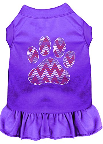 Mirage Pet Products 57–70 prxs Candy Cane Chevron Paw Strass Hund Kleid, X-Small, Violett von Mirage Pet Products