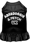 Mirage Pet Products 58–02 4 x BK schwarz 4 Aberdoggie UK Screen Print Kleid, 4 x große von Mirage Pet Products