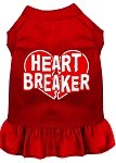 Mirage Pet Products 58–05 LGRD rot Heart Breaker Screen Print Kleid, groß von Mirage Pet Products