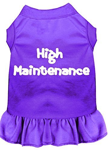 Mirage Pet Products 58–06 MDPR violett High Maintenance Screen Print Kleid, Medium von Mirage Pet Products
