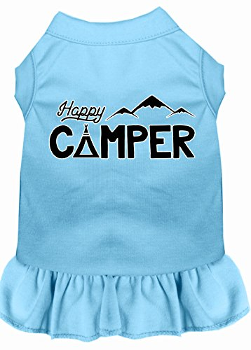 Mirage Pet Products 58–59 bblxl Happy Camper Siebdruck Hund Kleid, Large, Baby Blau von Mirage Pet Products