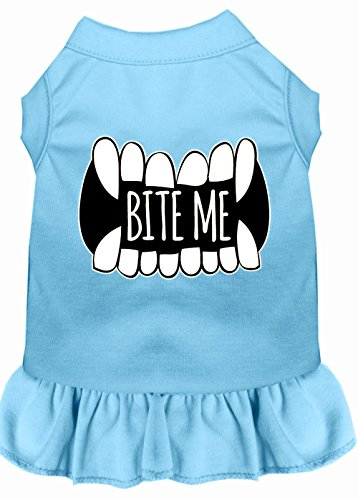 Mirage Pet Products 58–63 bblxl Bite Me Bildschirm Print Hund Kleid, Large, Baby Blau von Mirage Pet Products