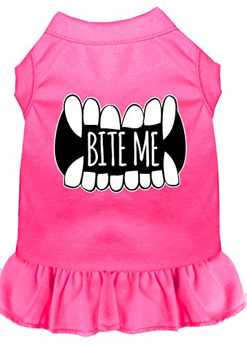Mirage Pet Products 58–63 bpk4 X Bite Me Bildschirm Print Hund Kleid, 4 x große, Bright Pink von Mirage Pet Products