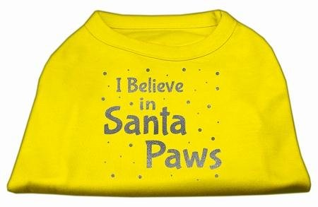 Mirage Pet Products Bildschirm Print Santa Paws Pet Shirt, Medium, Gelb von Mirage Pet Products