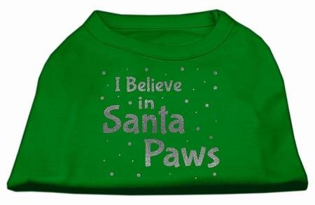 Mirage Pet Products Bildschirm Print Santa Paws Pet Shirt, XXL, smaragd grün von Mirage Pet Products