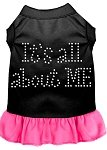 Mirage Pet Products Strass All About me Kleid, Large, Schwarz mit Bright Pink von Mirage Pet Products