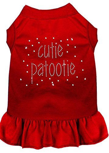 Mirage Pet Products Strass Cutie Patootie Kleid, 4 x große, Rot von Mirage Pet Products