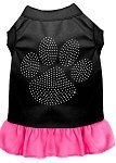 Mirage Pet Products Strass Klar Paw Kleid, Large, Schwarz mit Bright Pink von Mirage Pet Products