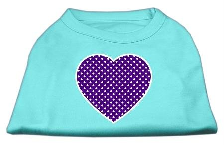 Mirage Pet Products violett Swiss Punkt Herz Bildschirm Print Shirt von Mirage Pet Products